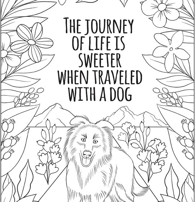 Free Dog Quote Coloring Page