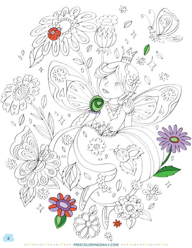 Free Cute Fairy Coloring Page