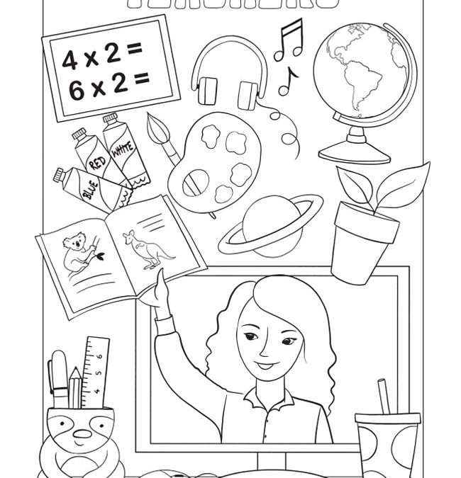 Free Thank You Teacher Coloring