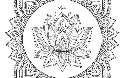 Free Lotus Flower Coloring Page