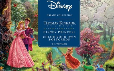 Thomas Kinkade Disney Princess Postcard Coloring