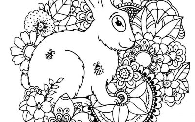 Free Rabbit Coloring Page