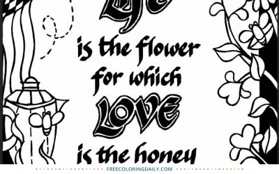 Free Life & Love Quote Coloring