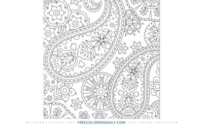 Free Pretty Paisley Coloring Page