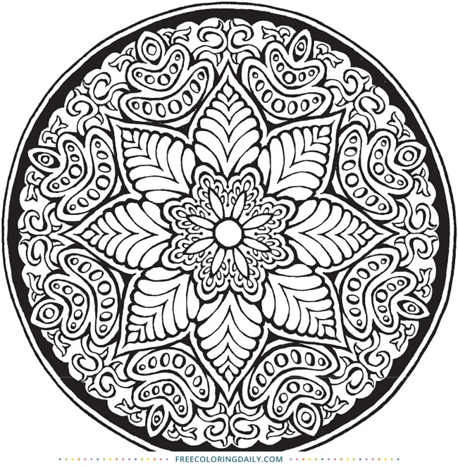 Free Lovely Mandala Coloring