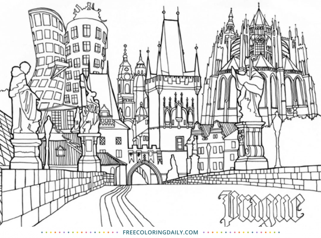 Free City Coloring Page