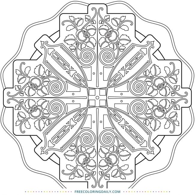 Free Intricate Mandala Coloring