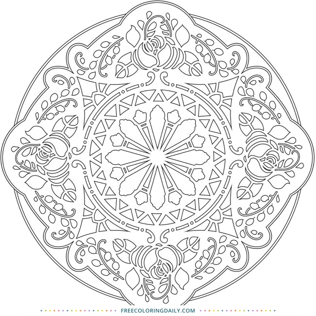 Free Gorgeous Mandala Coloring