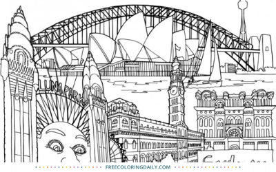 Free Famous Monuments Coloring