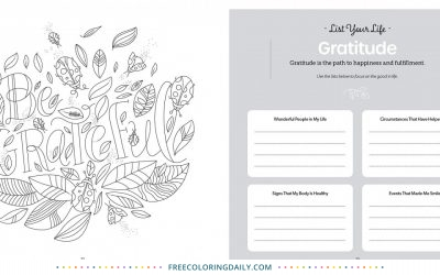 Free Gratitude Coloring Page