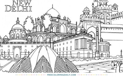 Free India Coloring Page