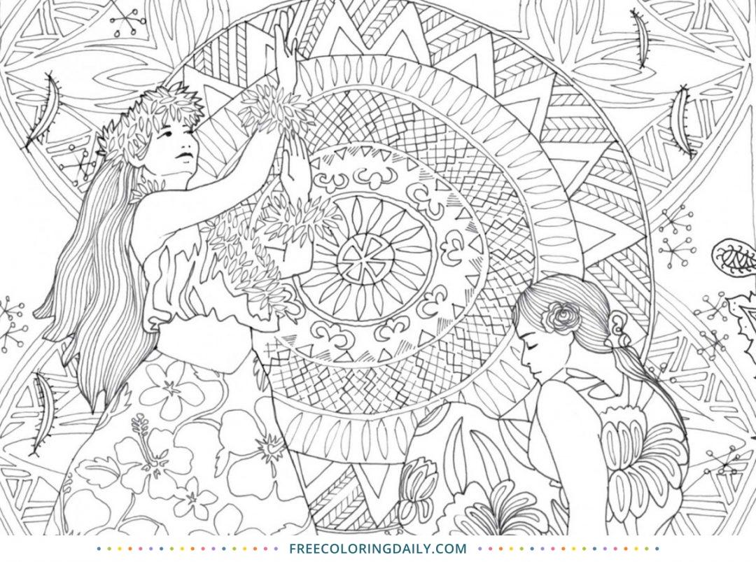 Free Polynesian Life Coloring Page
