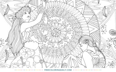 Free Polynesian Life Coloring Page