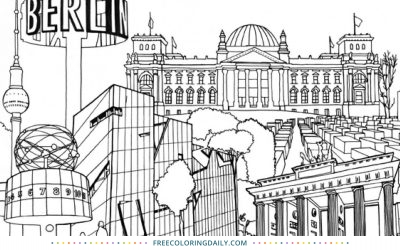 Free Berlin Coloring Page