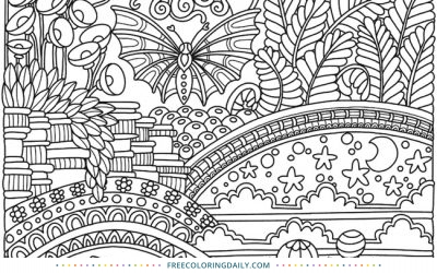 Free Butterfly Fantasy Coloring