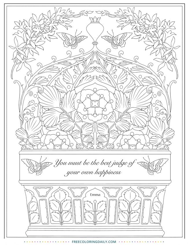 """Free Jane Austen """"Emma"""" Coloring Sheet"""