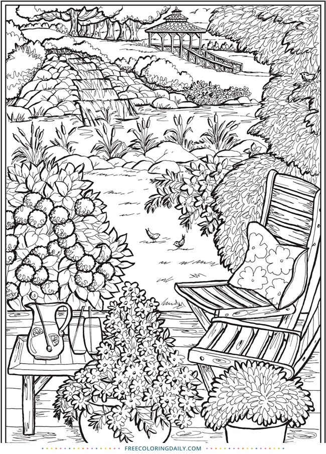 Free Outdoor Scene Coloring