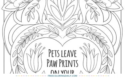 Free Loving Pets Coloring Page