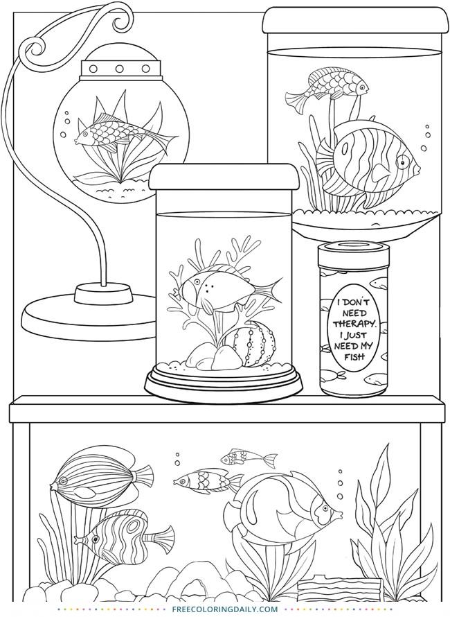 Free Fish Aquarium Coloring