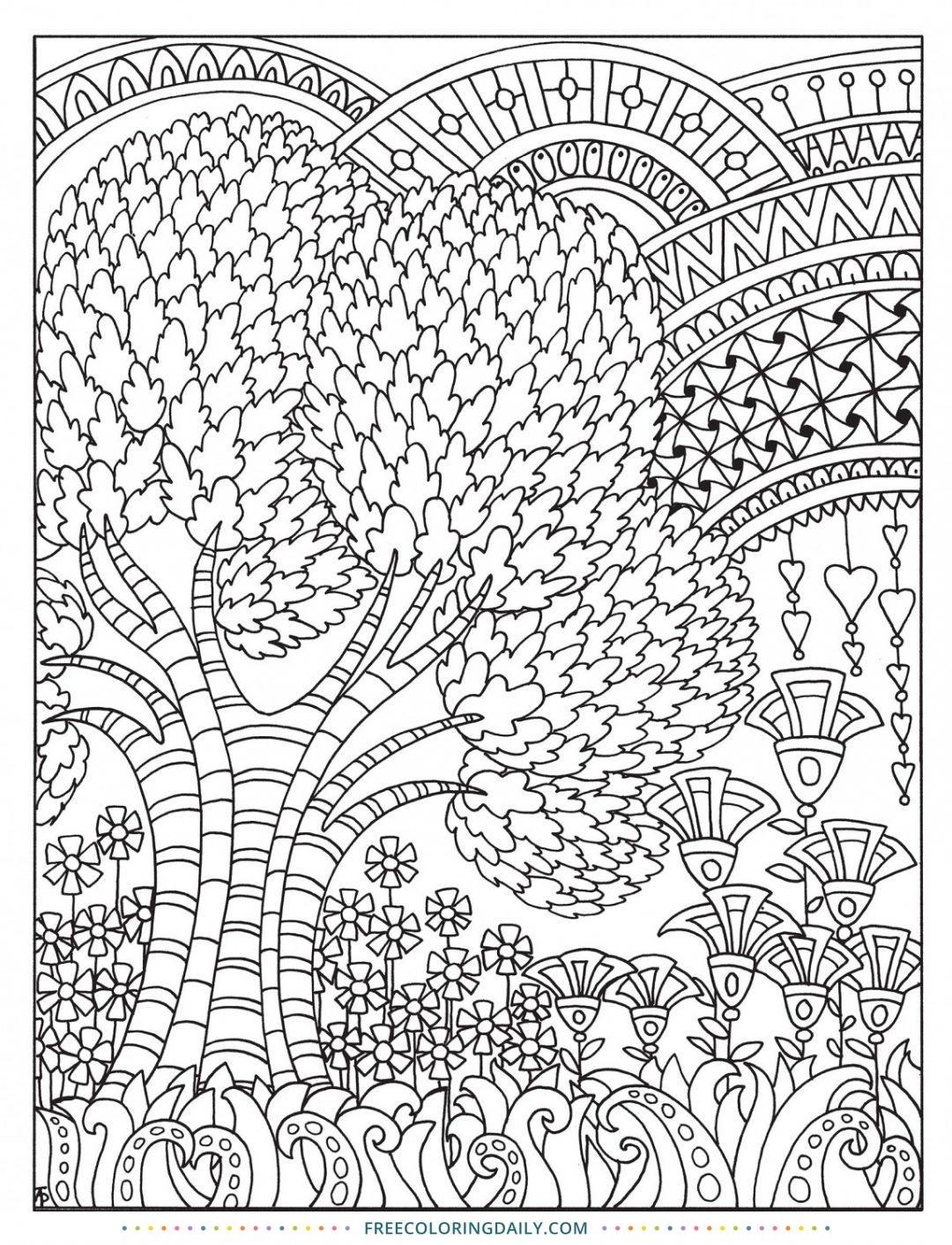 Free Fun Pattern Nature Scene Coloring