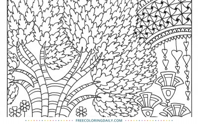 Free Fun Pattern Nature Scene Coloring
