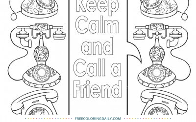Free Call a Friend Coloring