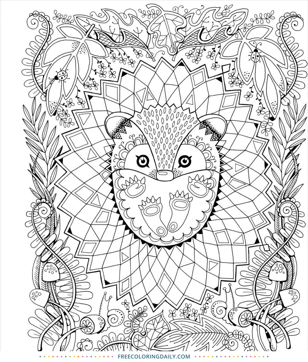 Free Cute Animal Coloring