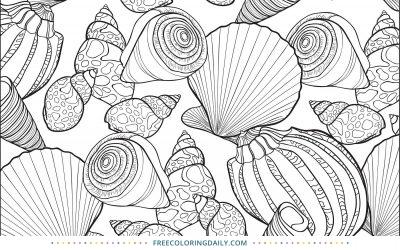 Free Seashells Coloring Page