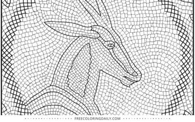 Free Mosaic Coloring Page