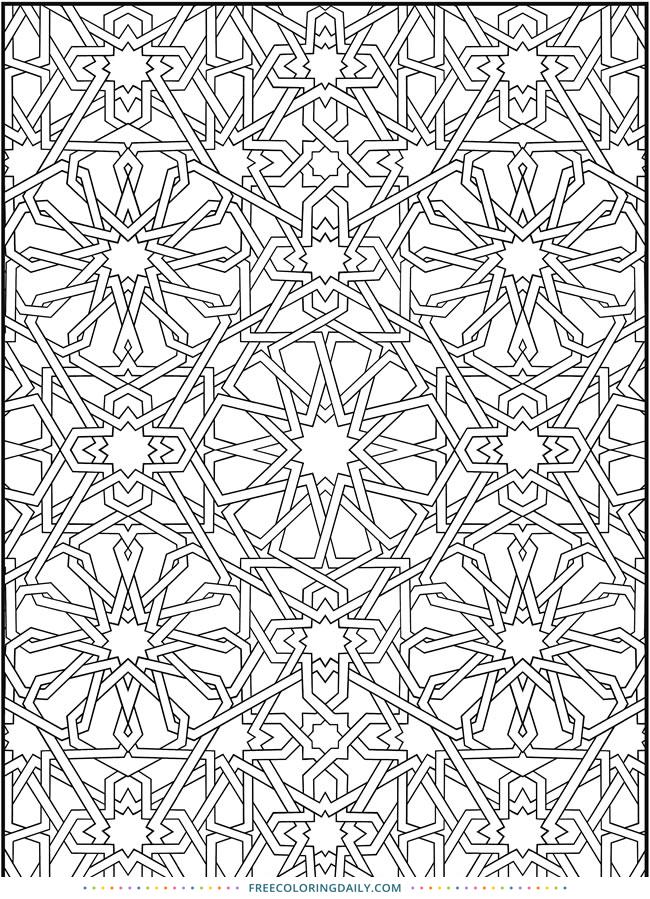 Free Kaleidoscope Coloring Page