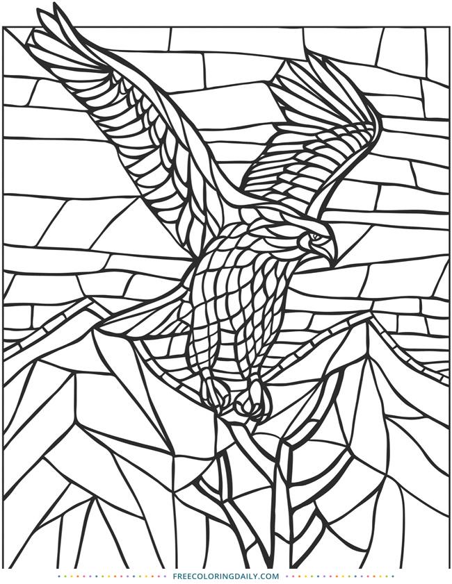 Free Geometric Bird Coloring