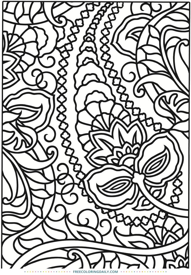 Free Fun Pattern Coloring Page