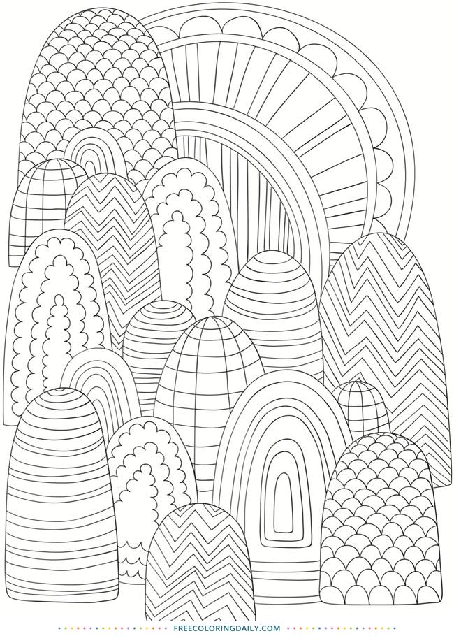 Free Fun Patterns Coloring Page
