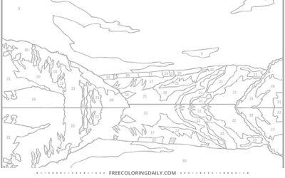 Free Landscape Coloring Page
