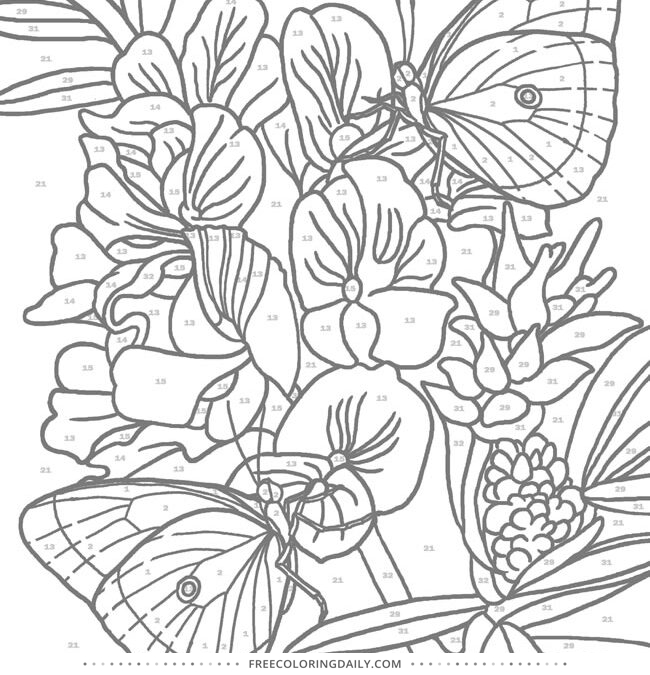 Free Pretty Butterflies Coloring