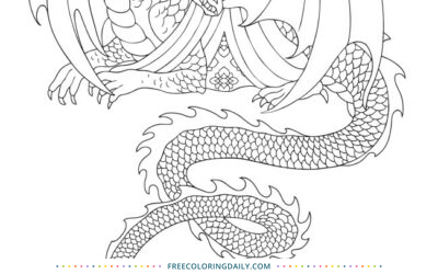 Free Dragon Coloring Page
