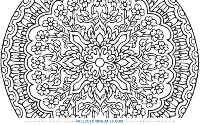 Free Gorgeous Mandala Coloring Page