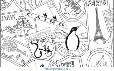 Free Terrific Travel Coloring Page
