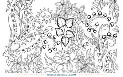 Free Pretty Foliage Coloring
