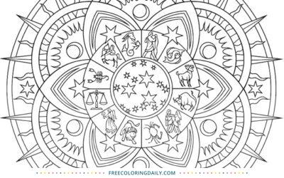 Free Stunning Mandala Coloring