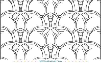 Free Fun Elephant Coloring Page