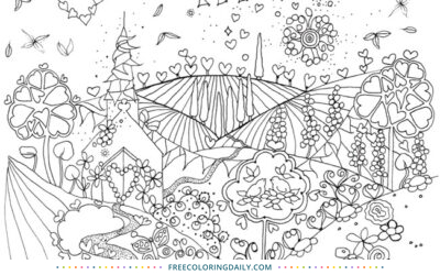 Free Happily Ever After Coloring