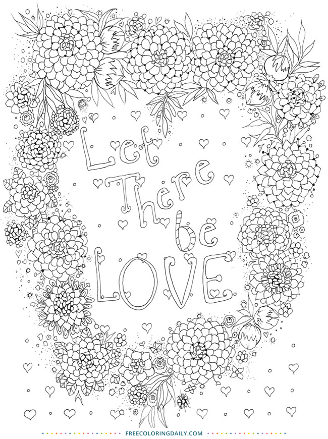 Free Positive Quote Coloring
