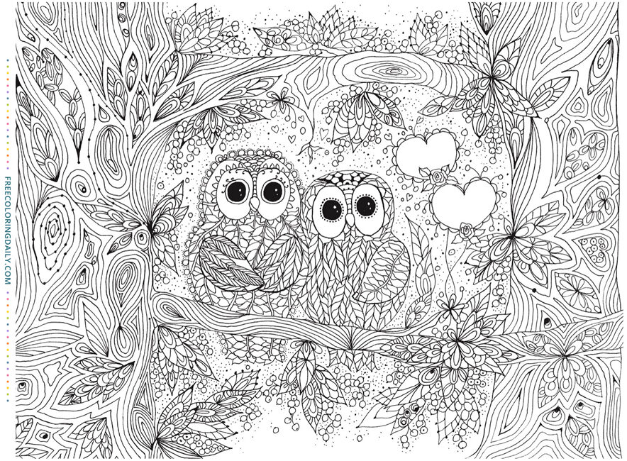 Free Forest Owl Coloring