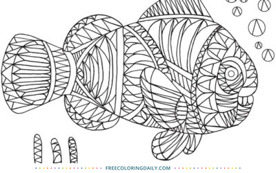 Free Patterned Fish Coloring