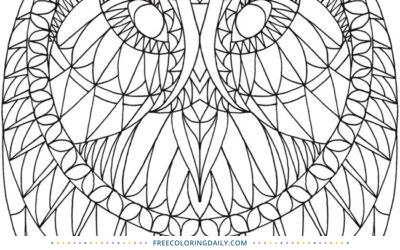 Free Patterned Owl Coloring Page