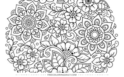 FREE Gorgeous Floral Sphere Coloring