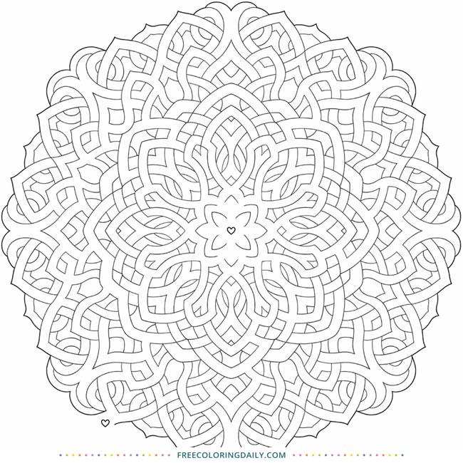 Free Mandala Maze Coloring