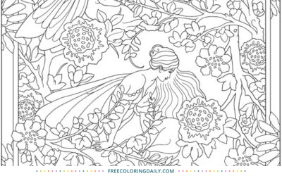 Free Flower Fairies Coloring Page