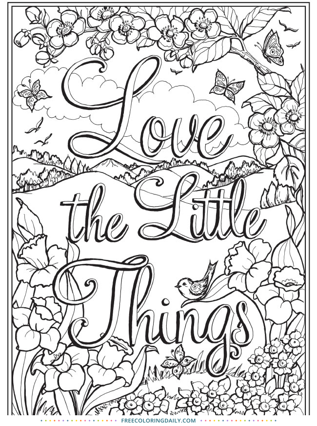 Free Love Quote Coloring Page